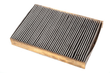 Old and dirty car filter - air filter