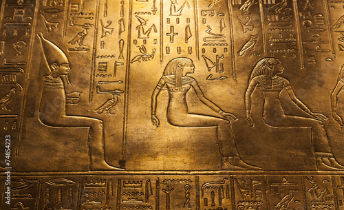 Egyptian hieroglyphics - 74854223