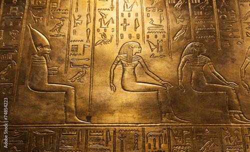 Egyptian hieroglyphics - 74854223