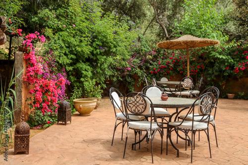 Tuinposter Marokko patio marocain 1
