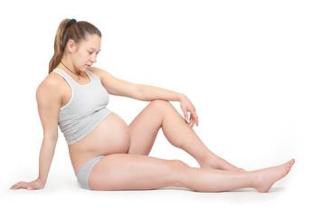 Pregnant woman.