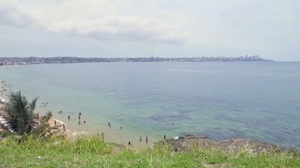 View of Boa Viagem Beach in Salvador, Brazil