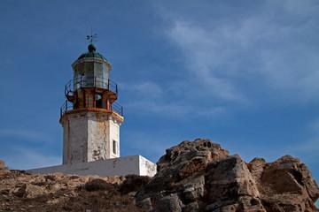 historischer Leuchtturm auf Mykonos