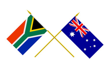 Flags, Australia and South Africa