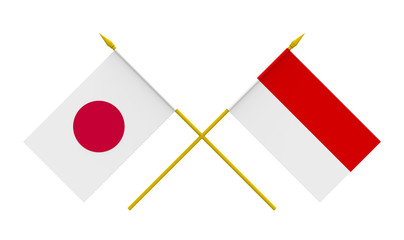 Flags, Indonesia and Japan