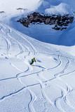 Skier riding.