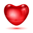 Big red glossy heart