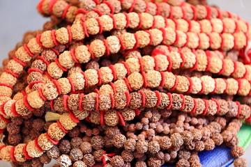 Rudraksha seed necklace. Pokhara-Nepal. 0746