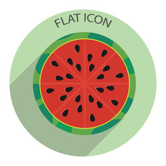 Half of watermelon. Vector illustration