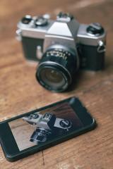 Old analog camera vs digital camera
