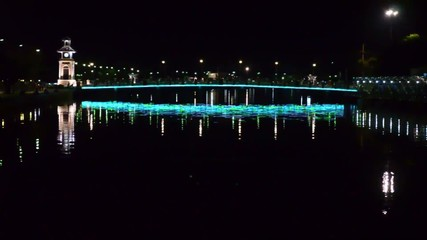 Night lighting on the bridge