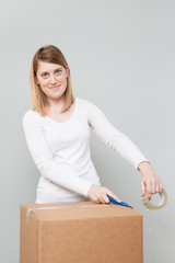 Young girl Moving House