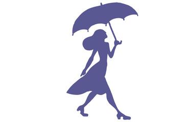 Passeggiare sotto l'ombrello