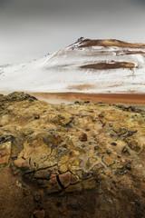 Námaskarð geothermal active volcanic area in North West Icelan