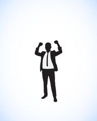 businessman success silhouette