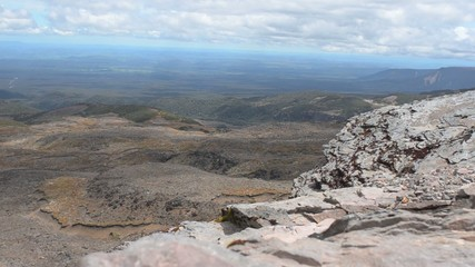 Wild landscape of Tongariro National Park New Zealand
