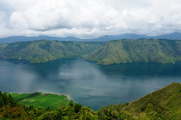 Toba lake on Sumatra