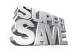 3D silver text super save.