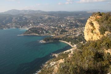 Vue de Cassis depuis le Cap-Canaille