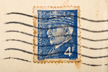 Vintage French postage stamp