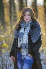 Girl in a fur coat