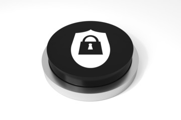 black button security symbol