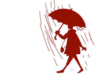 Camminare sotto la pioggia logo