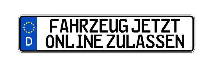 Kennzeichen mit KFZ Online zulassen