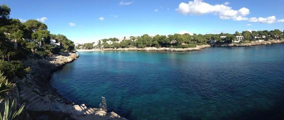 impresionantes vistas de Cala Gran en Cala d'Or, Mallorca