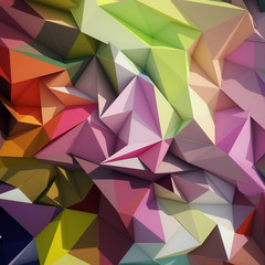 Abstract geometric low poly background. © Musicman80