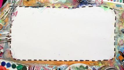 Artistic frame & art supplies, artist desk