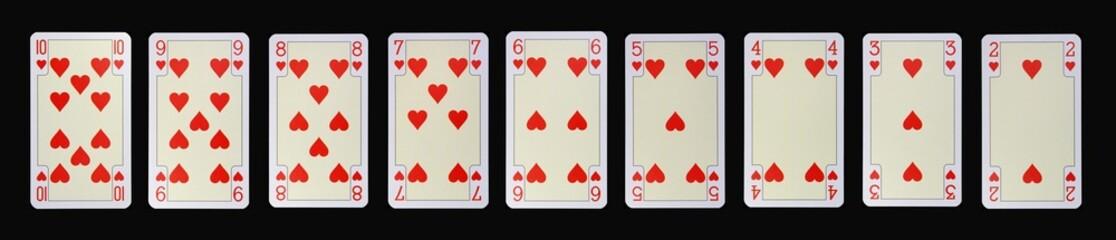 Spielkarten der Ladys - HERZ