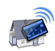 Haus mit Tablet und Smarthome