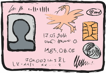 cartoon national identity card