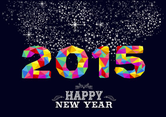 New year 2015 poster design