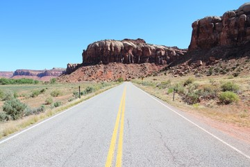 Utah road to Canyonlands National Park