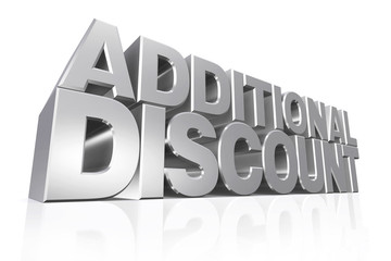3D silver text additional discount.