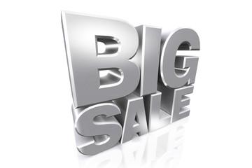 3D silver text big sale