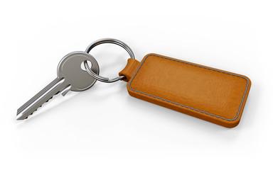 Schlüssel mit Anhänger hell
