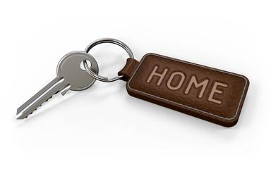Schlüssel mit Anhänger Home dunkel
