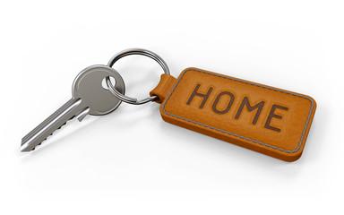 Schlüssel mit Anhänger Home hell
