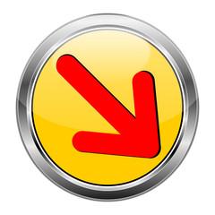 Button Pfeil gelb rot  #1417-04