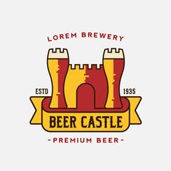 Beer Castle Vector Logo Template