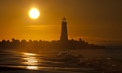 Santa Cruz Walton Lighthouse in the morning