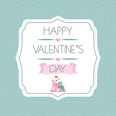 Congratulations to the Valentine's Day. Typography. Vector