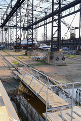 Klaipeda, Lithuania, November, 18, 2014: shiprepair yard
