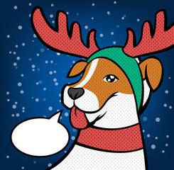 Christmas reindeer. Vector illustration