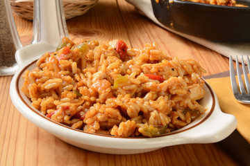 Chicken fajita with rice