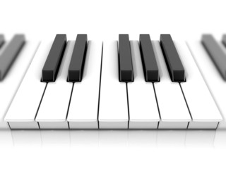 Set of piano keys. One octave