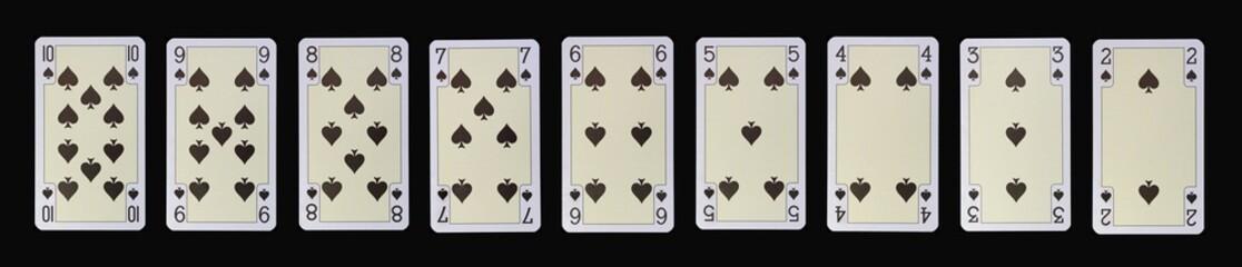 Spielkarten der Ladys - PIK